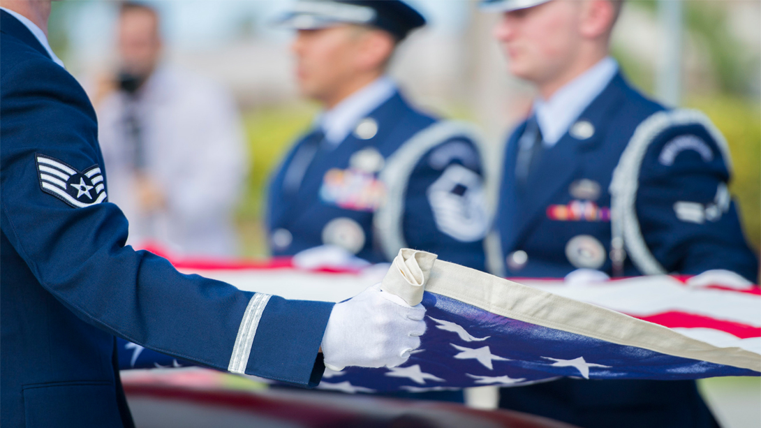 Veteran Caskets Flag